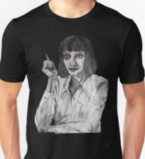 Mrs Mia Wallace Portrait T-Shirt