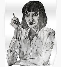 Mrs Mia Wallace Portrait Poster