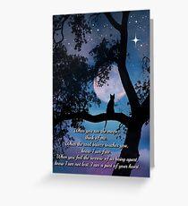 Cat Poem and Memorial Greeting Card
