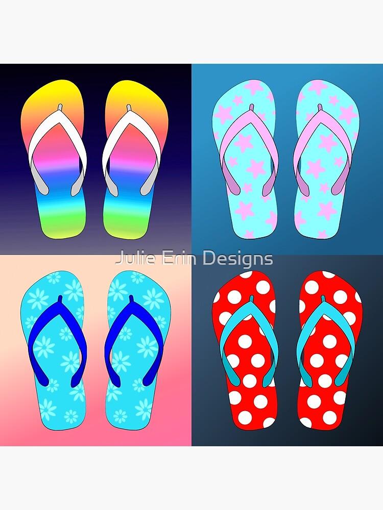 Womens Mandalas Floral Fantasy Style Flip Flop Print Lightweight Shoes