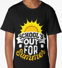 School's Out for Summer T Shirt Celebrate Vacation Long T-Shirt
