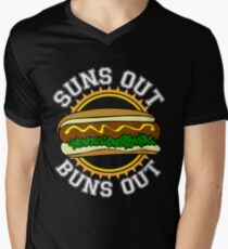 Suns Out Buns Out Summer Grilling Tee Shirt For Cookouts Men's V-Neck T-Shirt