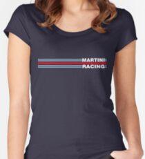 Martini Racing horizontal stripe Women's Fitted Scoop T-Shirt