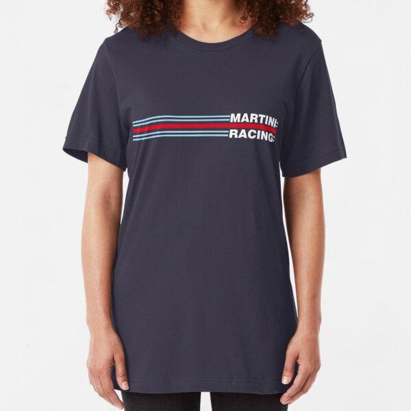 Racing Streifen horizontal Martini Slim Fit T-Shirt