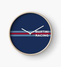 Martini Racing horizontal stripe Clock