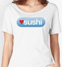 heart sushi button Women's Relaxed Fit T-Shirt