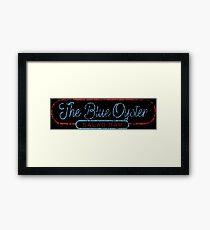 The Blue Oyster Framed Print