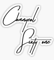 exo chanyeol exodium shirt  Sticker