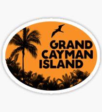 GRAND CAYMAN ISLAND KARIBISCHE MEER RETRO BEACH OCEAN TRAVEL Sticker
