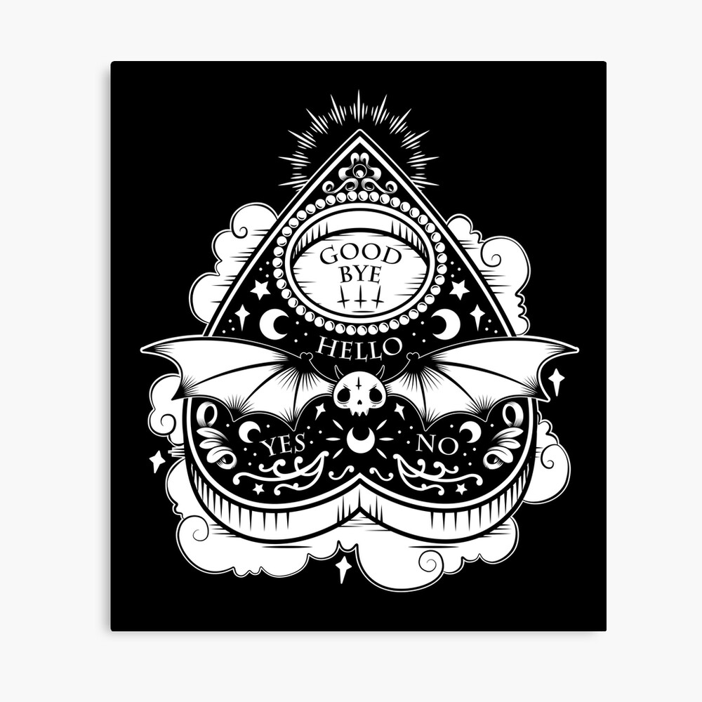 OUIJA Horror Canvas Print