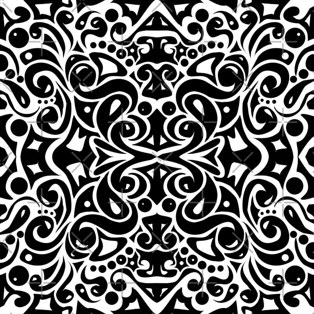 Kaleidoscope (Black and White)  by nathsoph