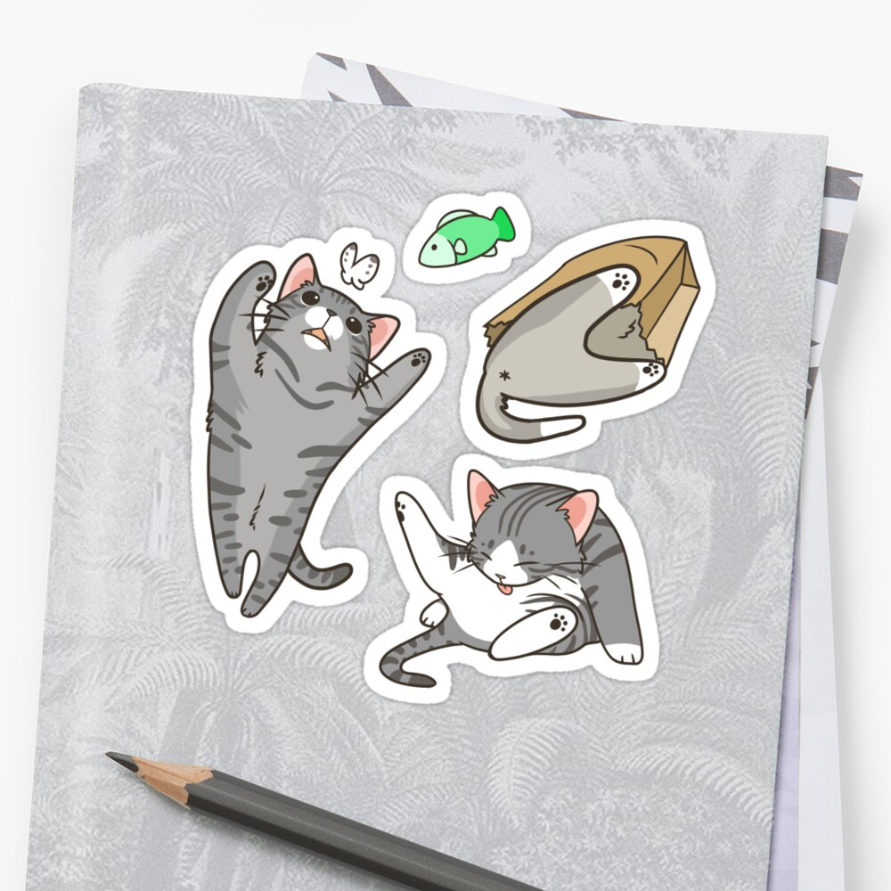 Grey Tabby and White Cats by pawlove