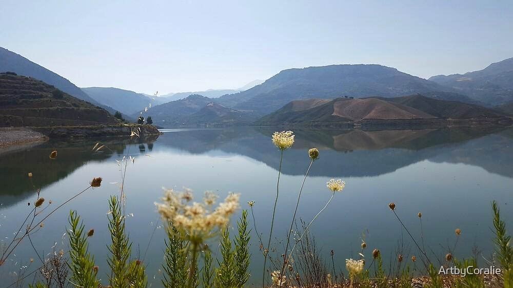 Reflections at Potami Dam Crete by ArtbyCoralie