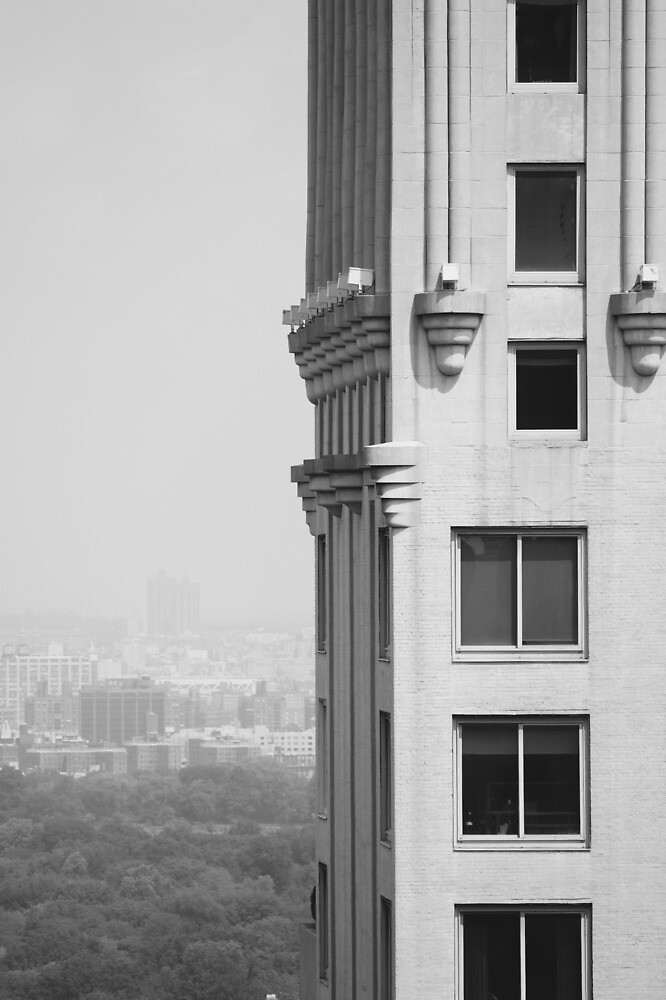 New York Building Black and White by chantalmarie