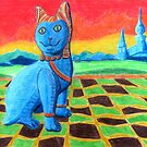220 - FAIENCE CAT - DAVE EDWARDS - COLOURED PENCILS - 2008 by BLYTHART