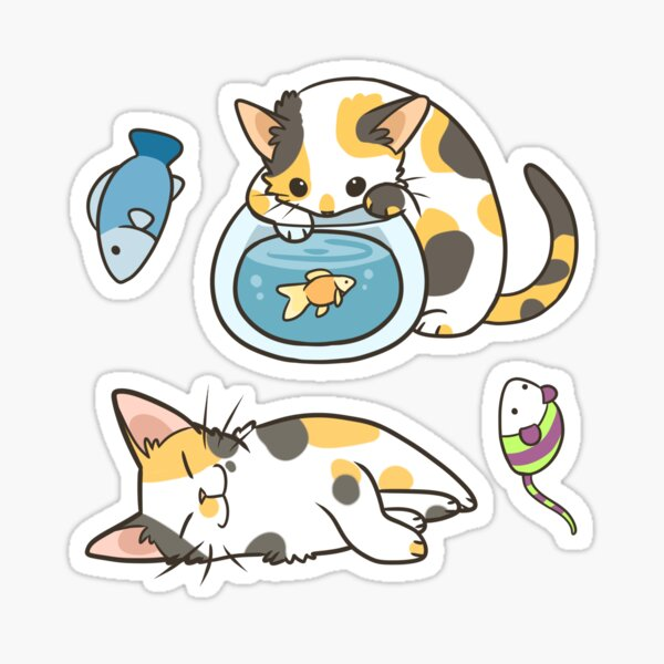 Calico cats Sticker