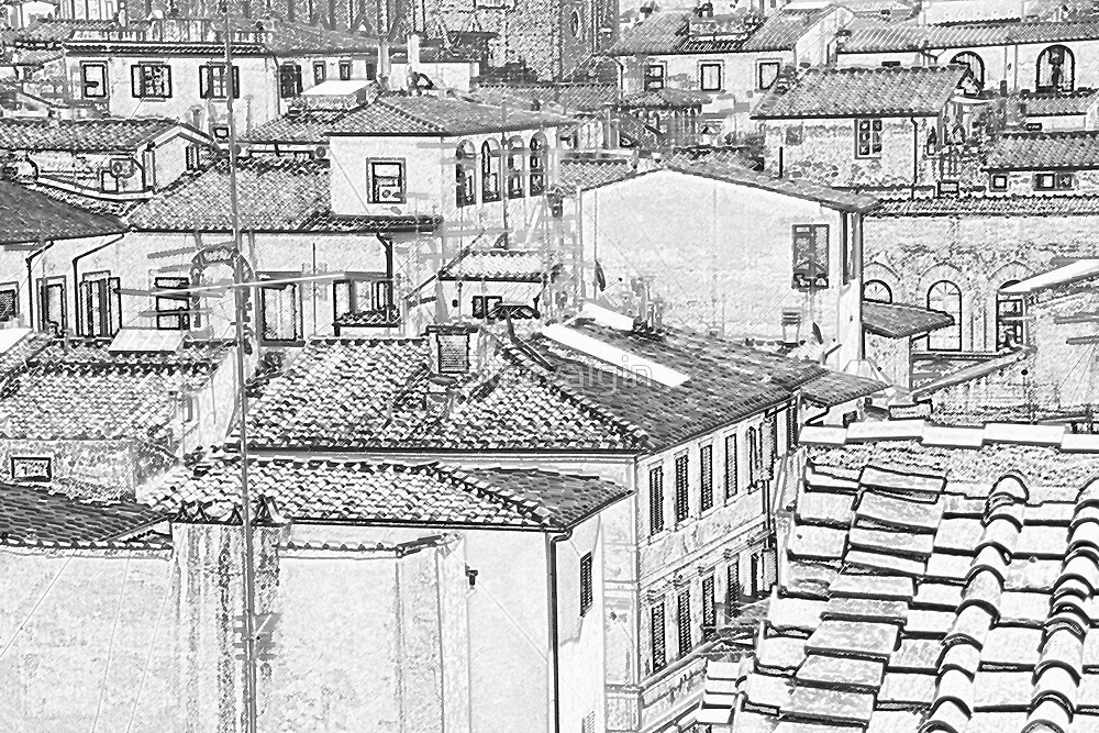Florence Roofs (1), Florence, Tuscany, Italy by Stravaigin