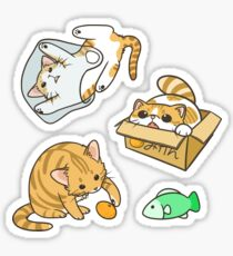 Orange and White Cats  Sticker