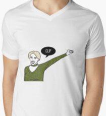 Clip Men's V-Neck T-Shirt