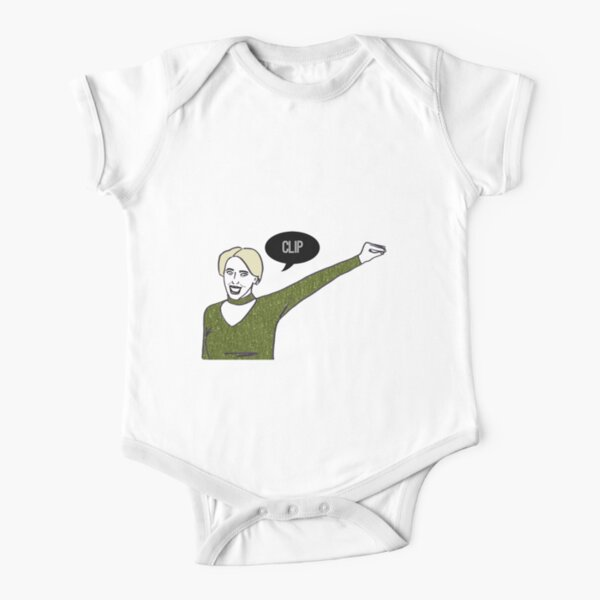 Clip Short Sleeve Baby One-Piece
