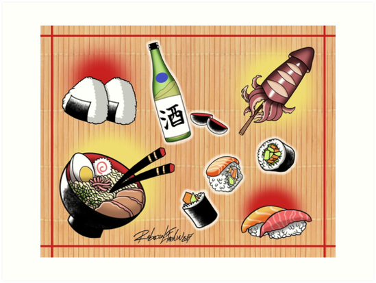 Japanese Food Flash Sheet by rlfedun