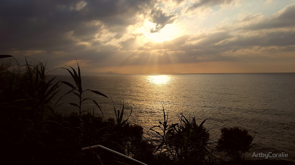 Dramatic sunset over the Crete sea by ArtbyCoralie