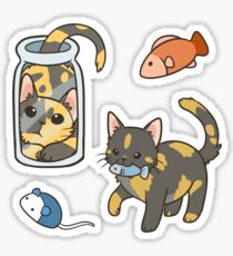 Tortie Cats Sticker