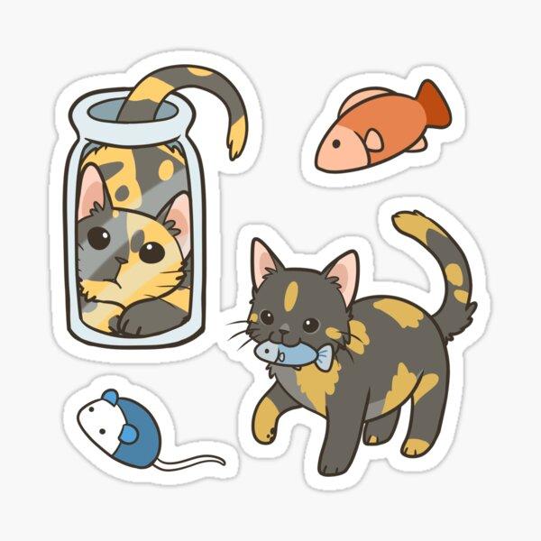 Tortie Cats Sticker