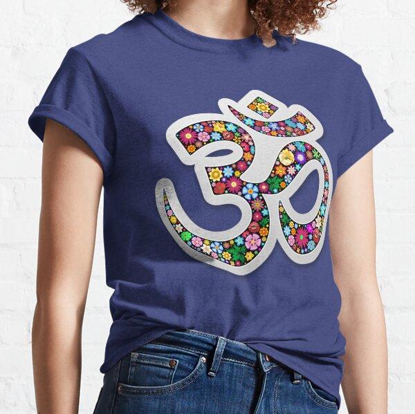 Namaste Floral Yoga Symbol  Classic T-Shirt