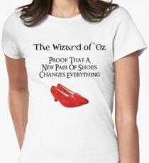 Wizard of Oz Dorothy's Shoes Women's Fitted T-Shirt