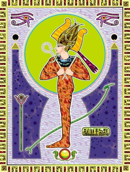 Osiris - egyptian god by tombird