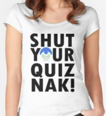 Voltron Inspired Shut Your Quiznak Quote Women's Fitted Scoop T-Shirt