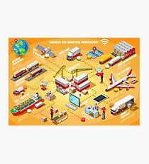 Export Trade Logistics Infographic Icons Photographic Print
