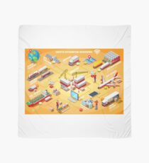 Export Trade Logistics Infographic Icons Scarf