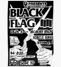 Classic Punk Rock Flyer Poster