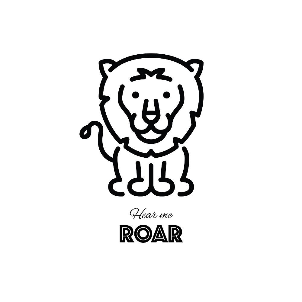 Hear me roar lion by designerdallas