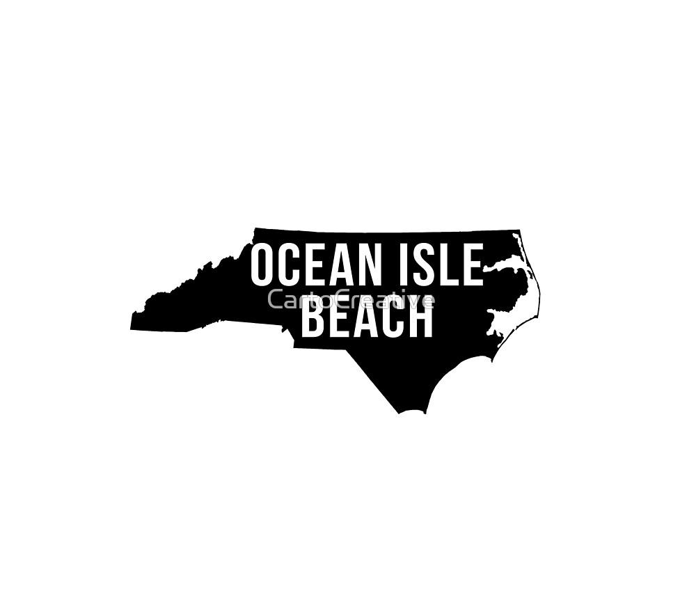 Ocean Isle Beach, North Carolina Silhouette by CartoCreative