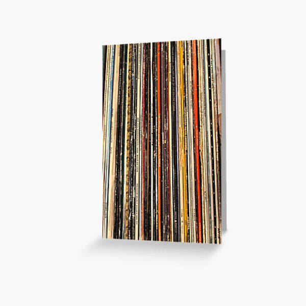 Vinyl record collection photography Greeting Card