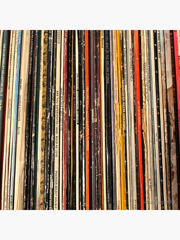Vinyl record collection photography by shootingnelly
