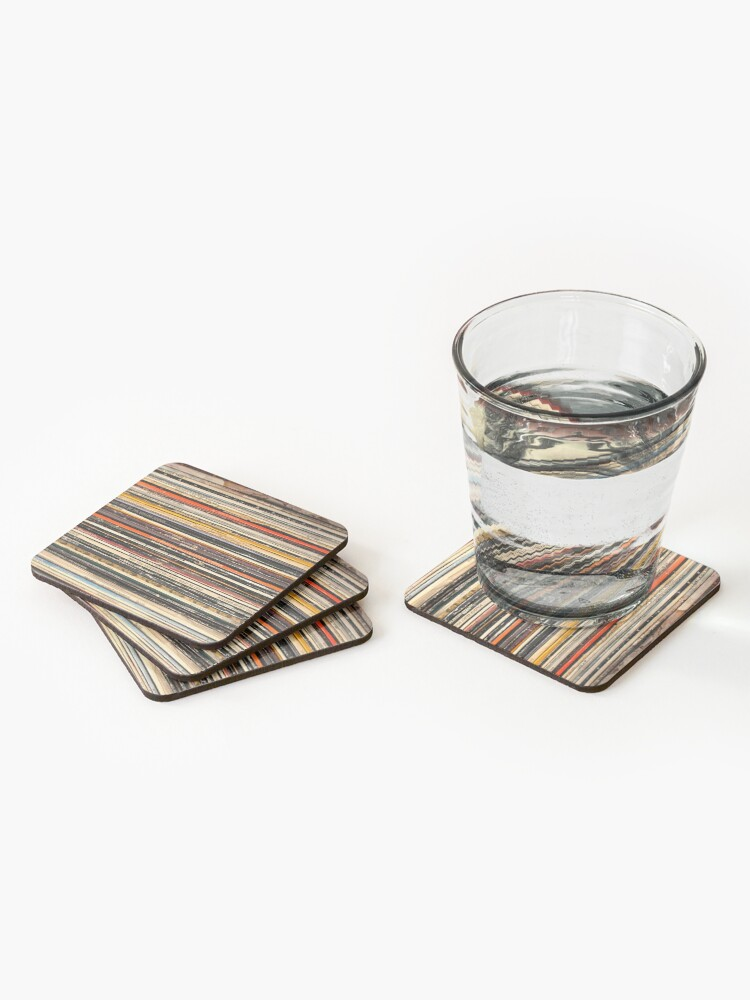 Alternate view of Vinyl record collection photography Coasters (Set of 4)
