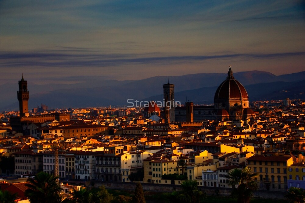 Florence from  Piazzale Michelangelo, Florence, Tuscany, Italy by Stravaigin
