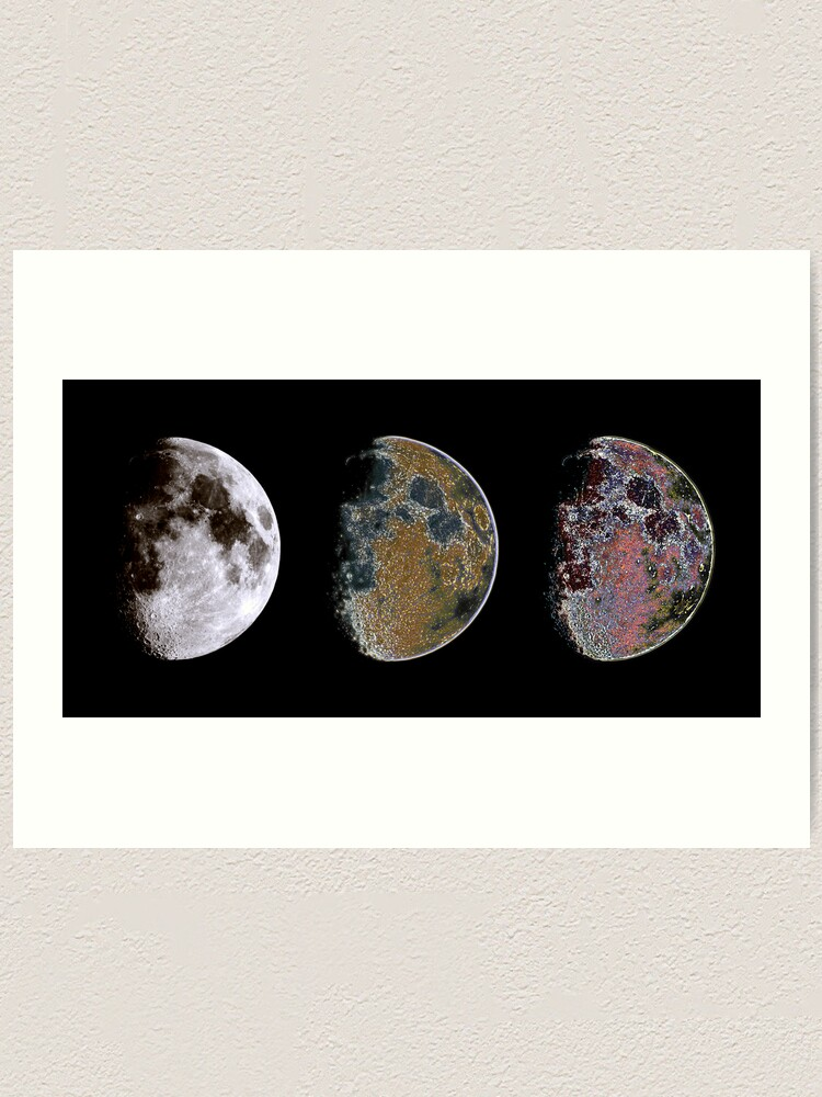 Alternate view of 3 Phases of The Moon Art Print
