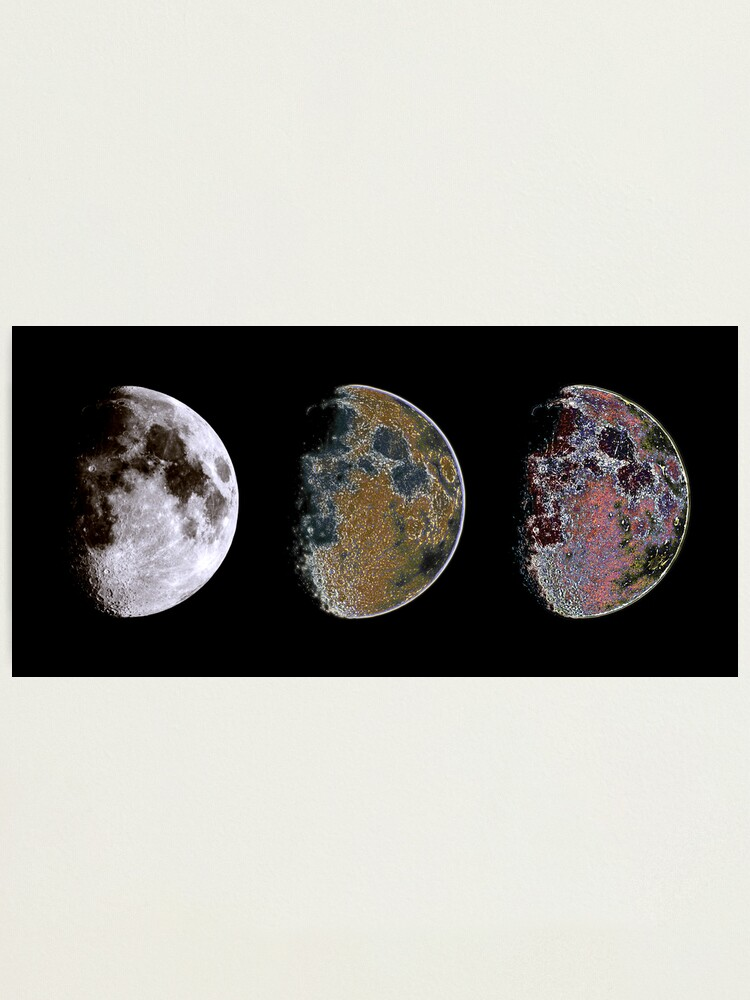 Alternate view of 3 Phases of The Moon Photographic Print