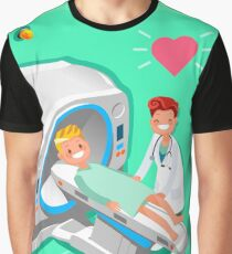 Hospital Doctor Cartoon Isometric People Graphic T-Shirt