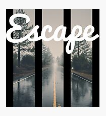 Escape, down the Road. Photographic Print