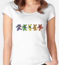 Grateful dead dancing bears sticker Women's Fitted Scoop T-Shirt