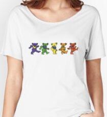 Grateful dead dancing bears sticker Women's Relaxed Fit T-Shirt