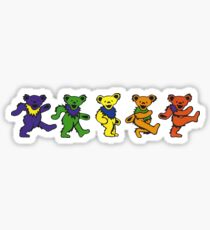 Grateful dead dancing bears sticker Sticker