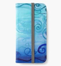 Energiebild Halschakra - Energy Painting Throat Chakra iPhone Flip-Case/Hülle/Skin