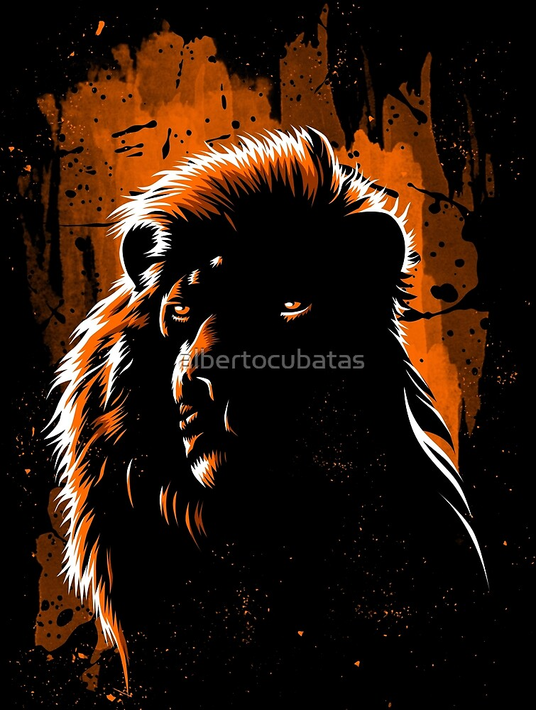 Lion Stain by albertocubatas